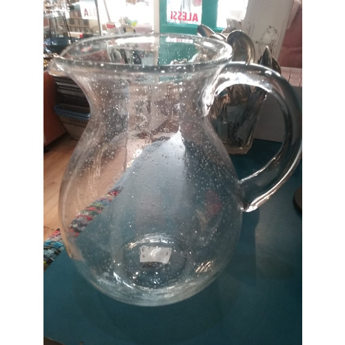 Glass bubble effect jug Image