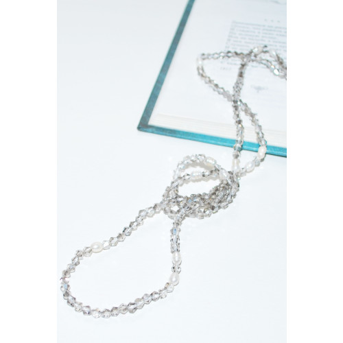 Diana Crystal Pearl Necklace / Black Image