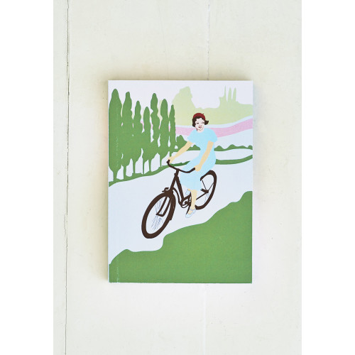 Cycling Lady A6 Notebook Image
