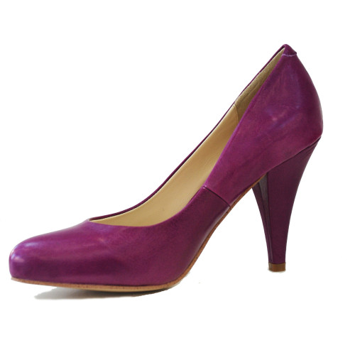 Magenta  Noe Leather Pumps Image