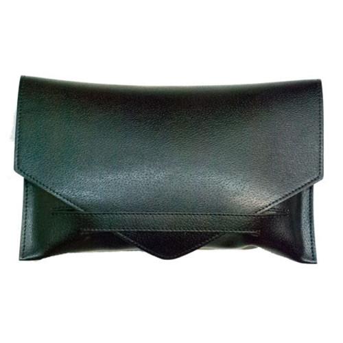 Black Envelope Style Clutch Bag Image