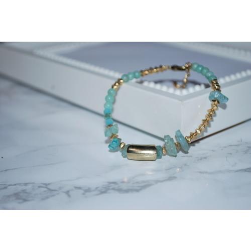 Aquamarine Semiprecious Bracelet Image