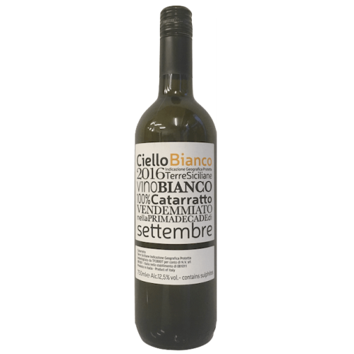 Ciello Bianco 2016 Catarratto, Sicily, Italy (natural wine, low sulphites) Image