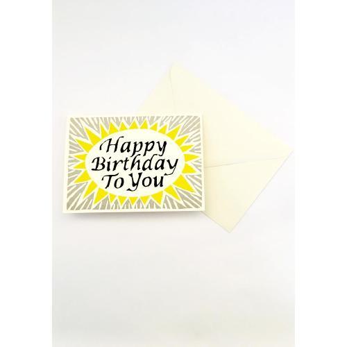 Happy Birthday To You Card - Cambridge Imprint Image