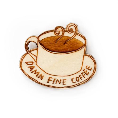 Damn Fine Coffee Brooch Image