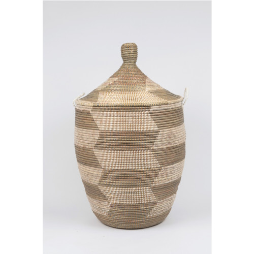 Conical Laundry Basket Natural/Grey: Large Image