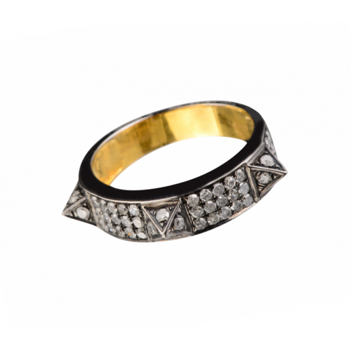 Diamond Rock Spike Ring Image