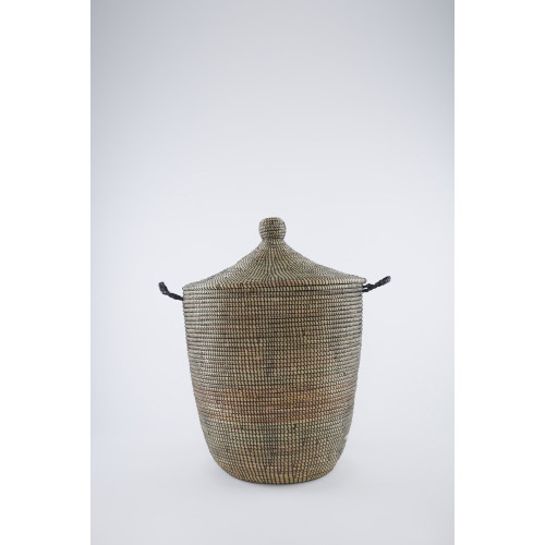 Laundry Basket Conical Black: Small Image