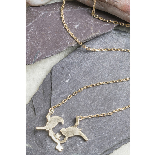 Sky Bird Necklace / Gold Image