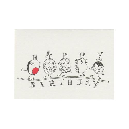Birds on a Branch- Happy Birthday Image