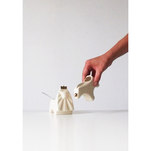 'Tea Rules the World' Sugar Bowl and Creamer by Takae Mizutani Image