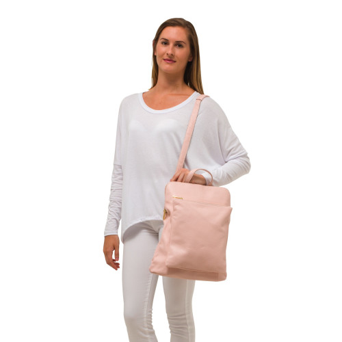 Ricky, Leather Rucksack , Pink Image