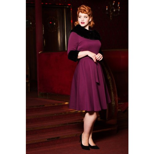 Belle Fur Collar Dress Image