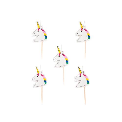Pack of 5 Unicorn Candles Image
