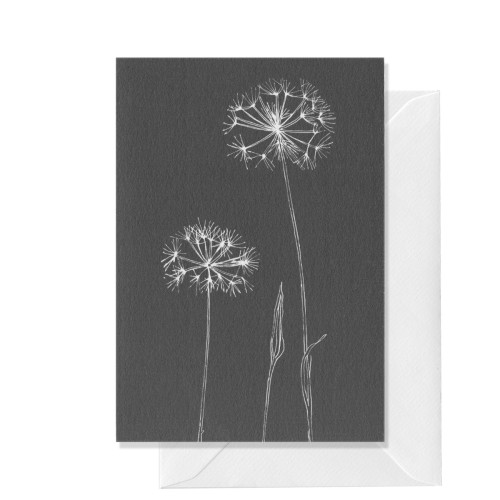 Botanical, Double Dandelion, A6 card Image