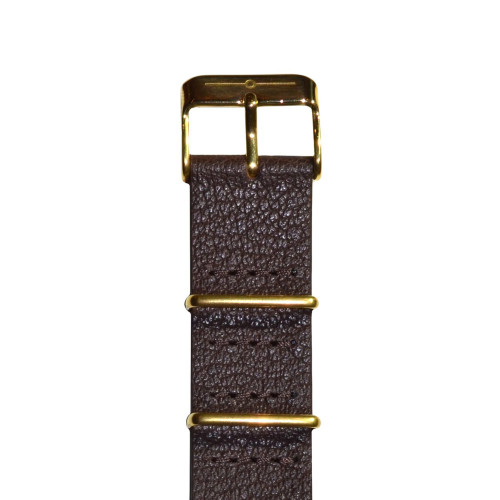 Brown Leather and Gold NATO Image