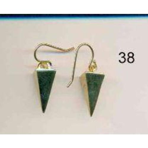 Premium Gold Triangle Drop Earrings Image