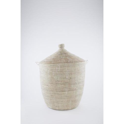 Laundry Basket Conical White: Medium Image