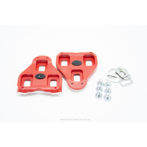 Look Delta Road Cleats in Red - With Float Image