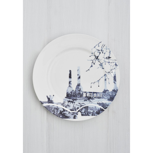 Battersea Power Station Toile Dinner Plate Image