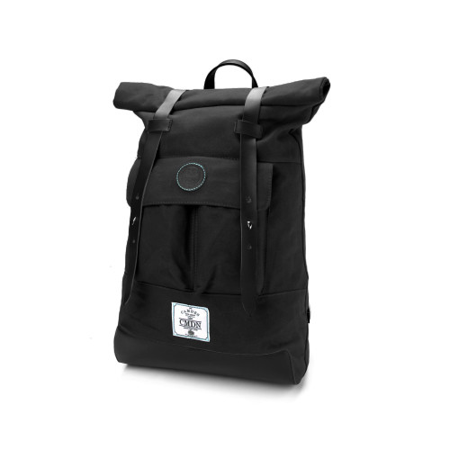 Black Waxed Canvas Backpack Image