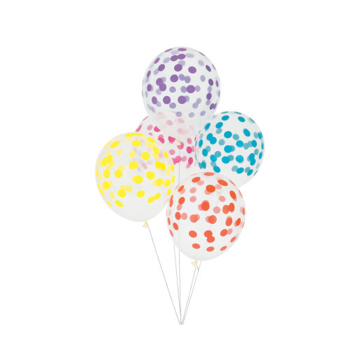 Spotty multicoloured balloons Image