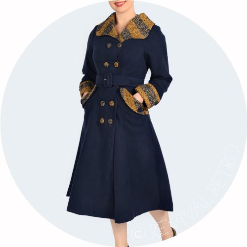 Retro Fashion Winter Coat Image