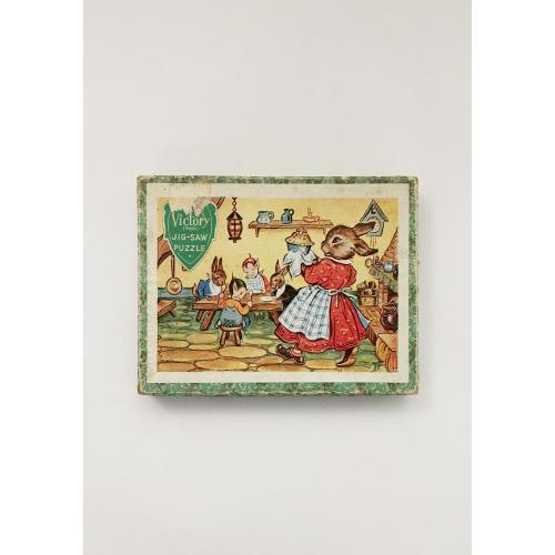 Victory Jig-Saw Rabbit Puzzle Image