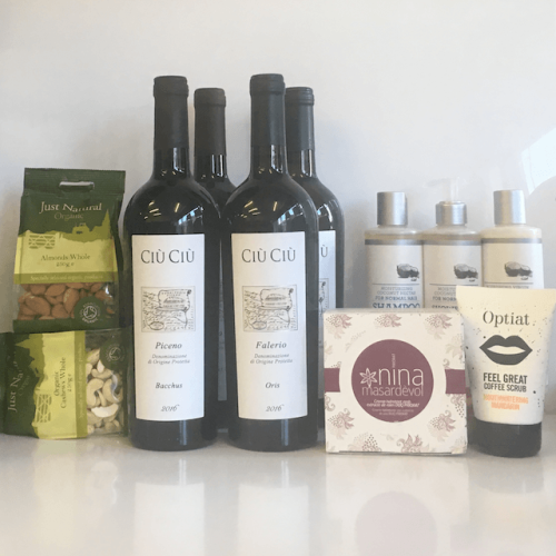 Proper 'Me Time' Hamper of Natural Cosmetics and 4/8 Organic Wines Image