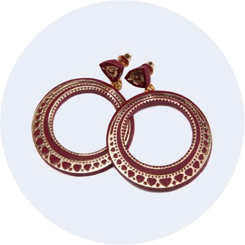 Retro Hoop Earrings Image