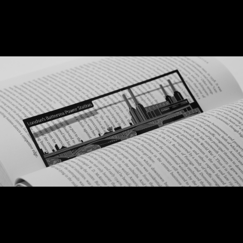 Battersea Power Station - Stainless Steel Bookmark Image