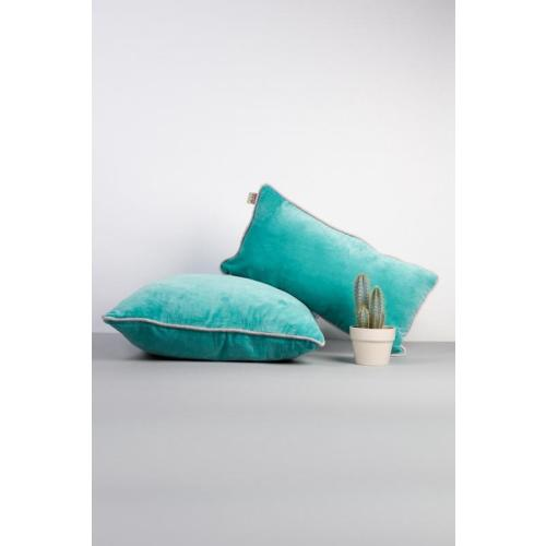 Velvet Cushion Cover: Sea Sqaure Image