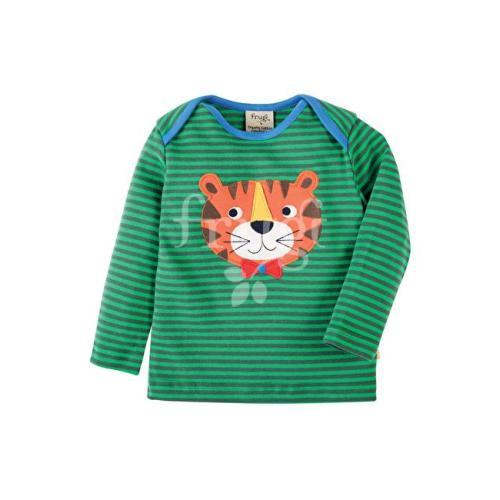 Bobby Applique Top Green Tiger Image