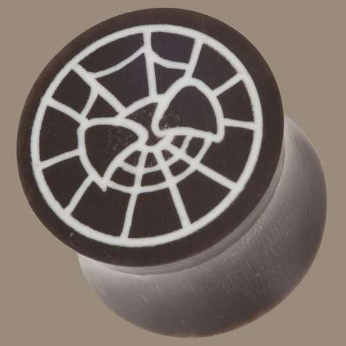 Spider Web Horn And Bone Plug Image