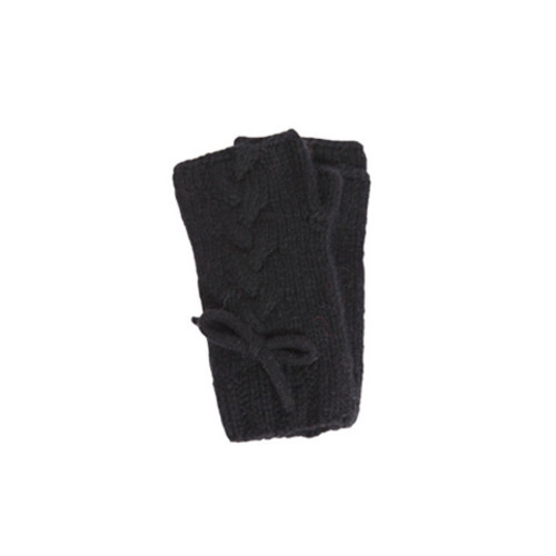 Black Virgin Wool Fingerless by Lowie Image