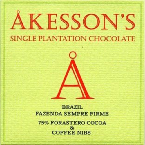 Åkesson's Brazil 75% with coffee nibs 60g Image