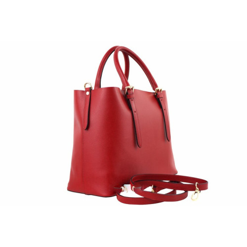 Anna , Taupe Leather Handbag , Made in Italy Image