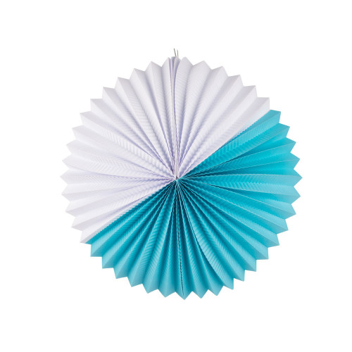 Paper Lantern- turquoise and white Image