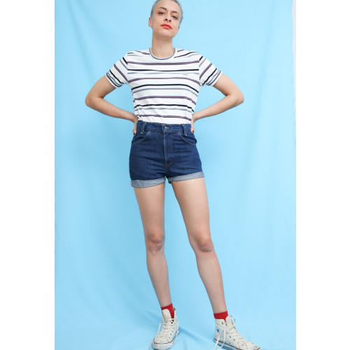 70s Vintage Levis Denim High Waisted Hotpants Image