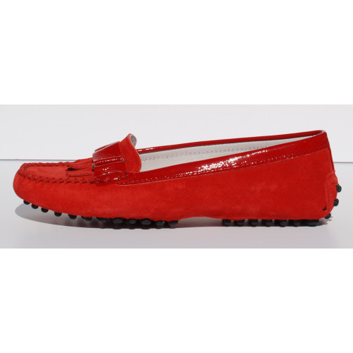 Red Suede Moccasin Image