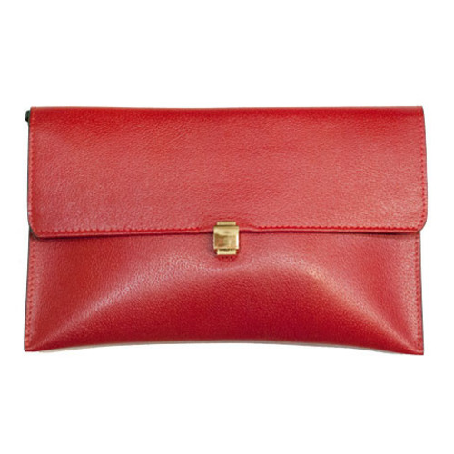 Medium Leather Red Clutch Bag Image