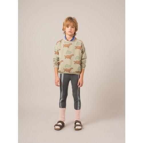 Bobo Choses Stripe Legging in Dark Grey Image