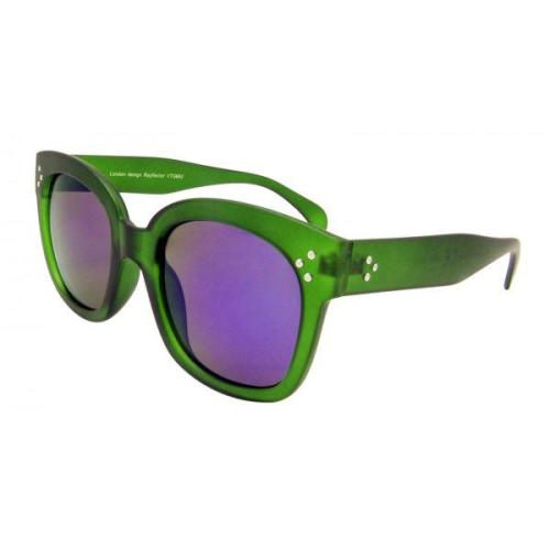 Georgie , Sunglasses , Green with with Mirrored Lenses Image