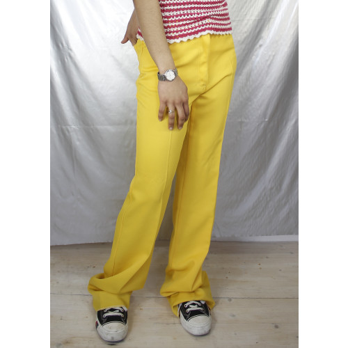 70s Bright Yellow Wide Leg Image