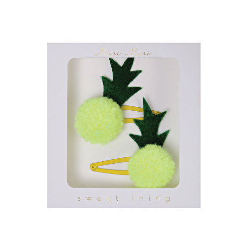 Pineapple hair clips Image