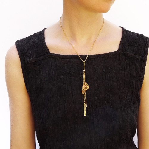 Gold Hope Wing necklace Image