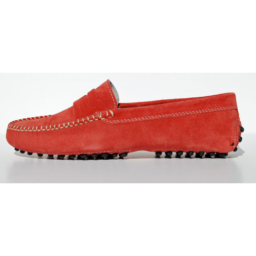 Red Suede Loafer Image
