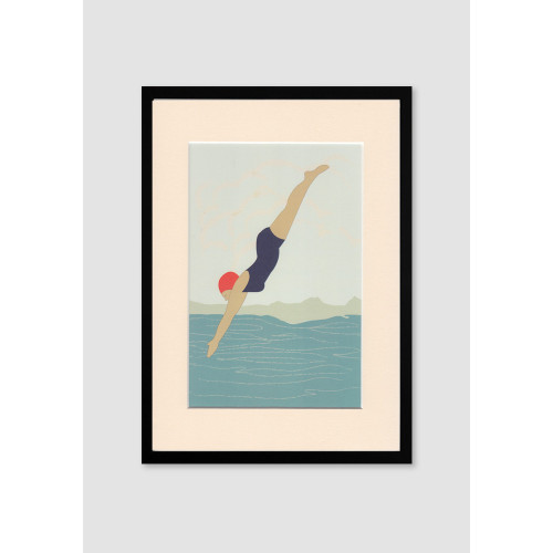 Diving Lady A4/A3 Print Image