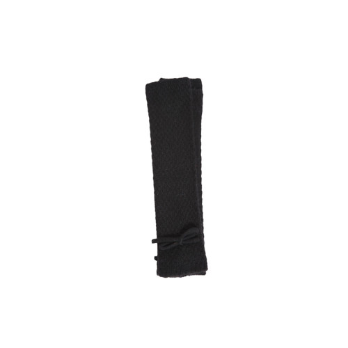 Black Cashmere Long Fingerless Gloves by Lowie Image
