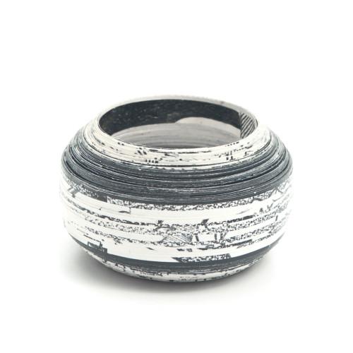 Monochrome Layered Paper Bracelet Image